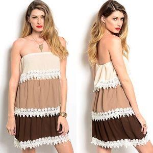 Dresses & Skirts - || SALE || YUMMY COFFEE AND CREAM DRESS ||