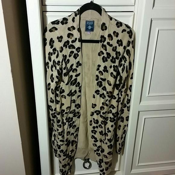 79% off PINK Victoria's Secret Sweaters - VS PINK Leopard Cardigan ...