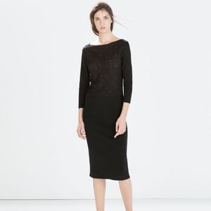 Zara Black Dress with Lace