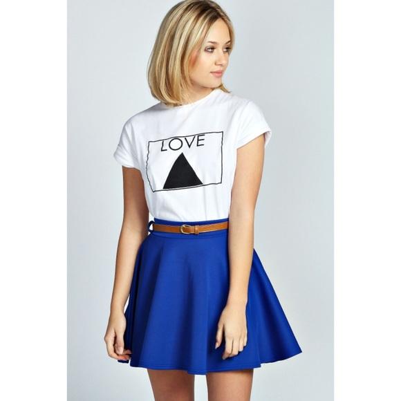 25 asos dresses skirts cobalt blue skater skirt