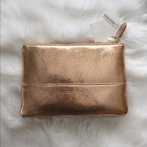 J Crew Rose Gold Pouch
