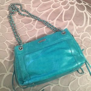 Rebecca Minkoff Handbags - Blue Rebecca Minkoff Distressed Shoulder Bag