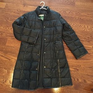 Black quilted/puffy down coat