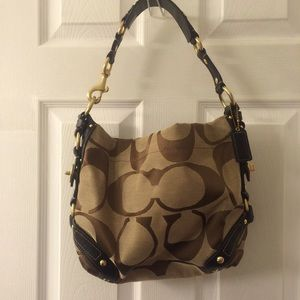 Coach Handbags - Authentic Coach Signature Carly Canvas Hobo