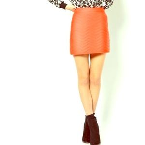 ASOS Orange A-Line Quilted Skirt