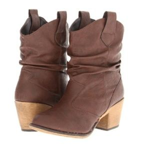 Boots - Charles Albert Cowboy Ankle Boots Booties Brown