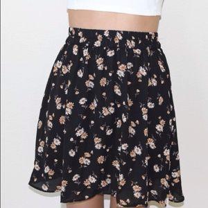 Dresses & Skirts - Black Flower Skirt