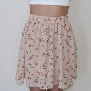 Dresses & Skirts - Beige Flower Skirt