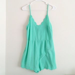 Lush mint sea foam romper size M