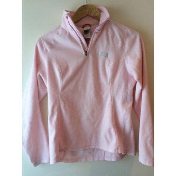 The North Face Light Pink Fleece Pullover. M 54e8f174f739bc73df00ee63 99f70af00