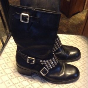 Awesome BCBG motorcycle boots.