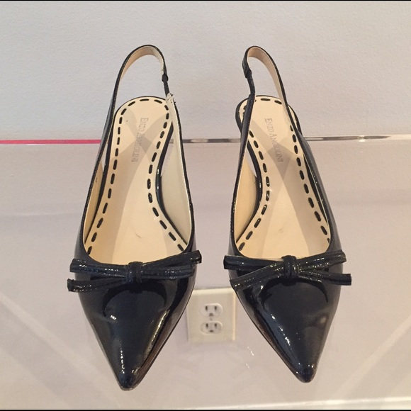 50% off Enzo Angiolini Shoes - Patent Leather Black Kitten Heel ...