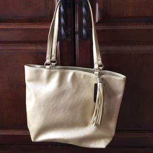 Style & Co gold tote