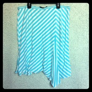Blue & White Striped Express Skirt