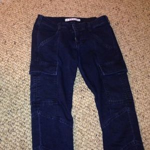 Jbrand cargo pants navy blue
