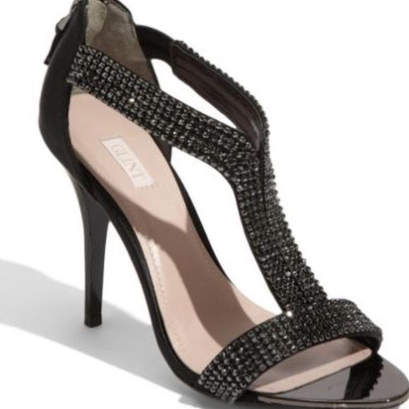 Glint Black Rhinestone Heels