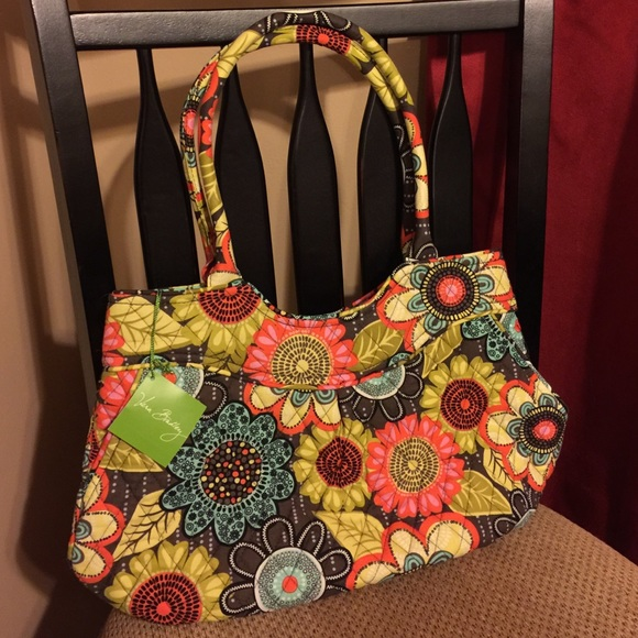 Vera Bradley Bags   Pleated Shoulder Bag Flower Shower   Poshmark 923df0cd93