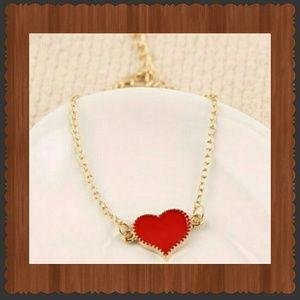 Gold plated heart chain bracelet