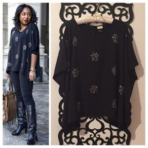Studded Batwing Blouse