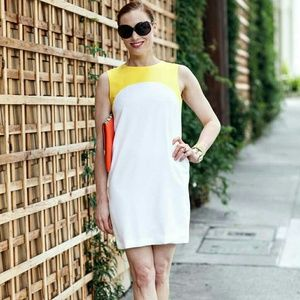 Zara Dresses & Skirts - Yellow & White Colorblock Shift Dress