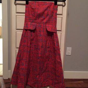 Strapless anthro dress