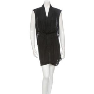 Shipley & Halmos Dresses & Skirts - Sheer sleeveless Faux Wrap tunic dress
