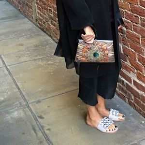 Vintage Peacock Clutch, A Holiday Must!