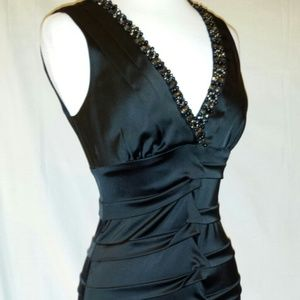 Dresses & Skirts - Cache black embellished beaded neckline dress