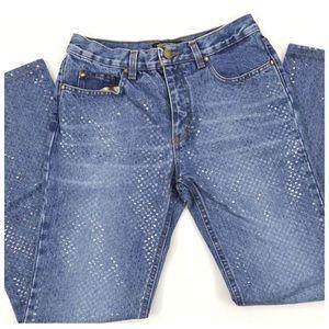 "Roberto Cavalli Denim - Roberto Cavalli Shiny Textured Jeans XS 27"""