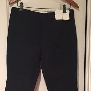 Balenciaga Wool Black Crop Ankle Pants