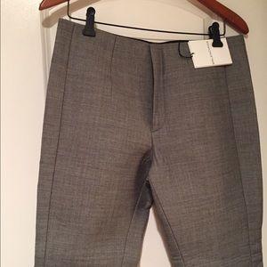 Balenciaga Wool Grey Crop Ankle Pants