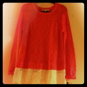 Democracy 1 - piece Sweater w/ Lacey Hem