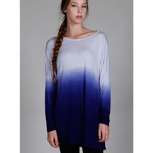 """Watercolor"" Dip Dye Ombre Top"