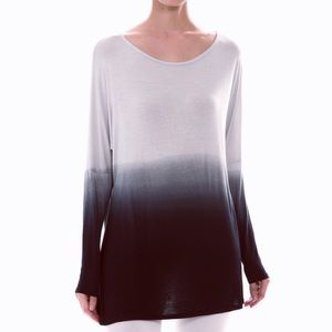 "Bare Anthology Tops - ""Watercolor"" Dip Dye Ombre Top"
