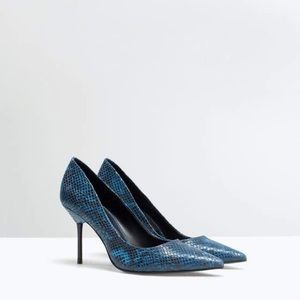 Zara printed court shoe