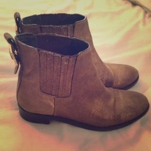 ONE DAY SALE!! Tory burch gold khaki boots booties