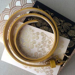 Cynthia Rowley Accessories - Colorful Cynthia Rowley Yellow Leather Belt