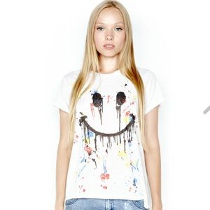 Lauren Moshi Tops - Dripping Happyface Tee by LAUREN MOSHI