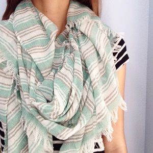 | new | striped scarf