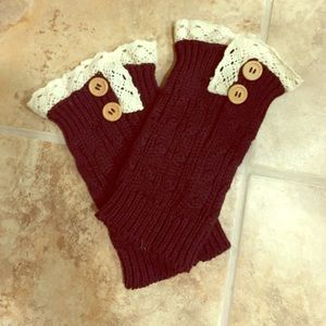 Boots - Brown leg warmers