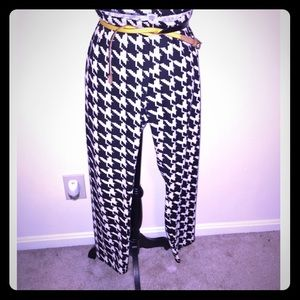 Pants - Houndstooth skinny pants