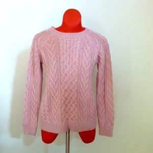 New Pink Cable Knit Cozy Sweater