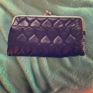 Black fabric type wallet clutch style