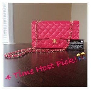 HP Chanel Lambskin Hot Pink Double Flap Bag