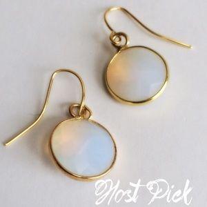 Jewelry - Opal colored stone dangle earrings
