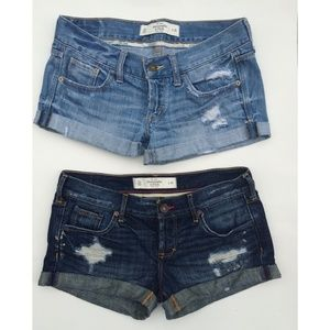 Set of Abercrombie & Fitch Denim Shorts