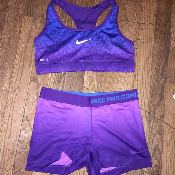 46a2c64413 Nike Pro Sports Bra and shorts set. M 54ea2e584127d01d6c015a1f