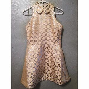 Beige Peter Pan Collar Dress