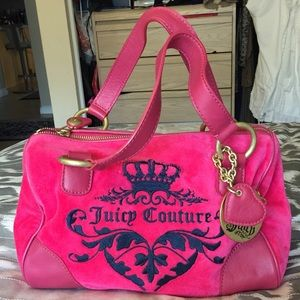 Hot pink Juicy Couture bowler purse!