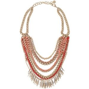 Stella&dot light pink/gold Carmen necklace